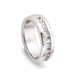 1.00ct Men's Diamond 14k White Gold Wedding Band Ring