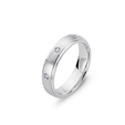 .12ct Men's Diamond 14k White Gold Wedding Band Ring