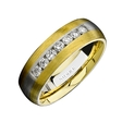 Natalie K Men's Diamond 18k Two Tone Gold Wedding Band Ring