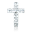 .97ct Diamond 18k White Gold Cross Pendant