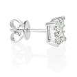 1.00ct Diamond 18k White Gold Cluster Earrings