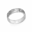 .31ct Simon G Men's Diamond 18k White Gold Wedding Band Ring