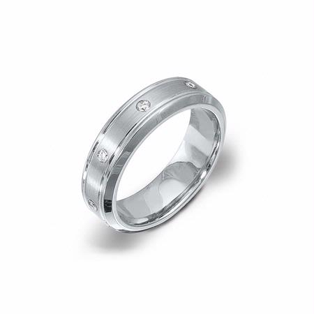 Simon G Men's Diamond Platinum Wedding Band Ring