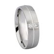 .07ct Men's Diamond 14k White Gold Wedding Band Ring