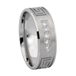 .20ct Men's Diamond 14k White Gold Greek Key Wedding Band Ring