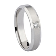 .08ct Men's Diamond 14k White Gold Wedding Band Ring