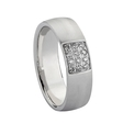 .15ct Men's Diamond 14k White Gold Wedding Band Ring