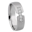 .18ct Men's Diamond 14k White Gold Wedding Band Ring