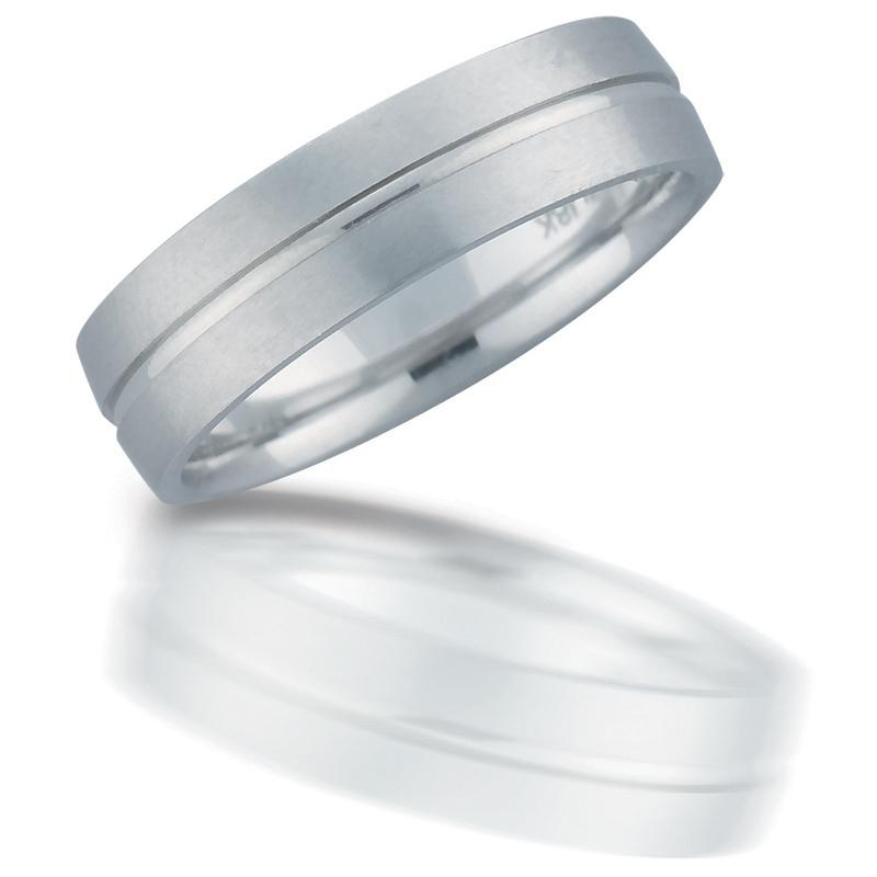 Men S 14k White Gold Wedding Band Ring