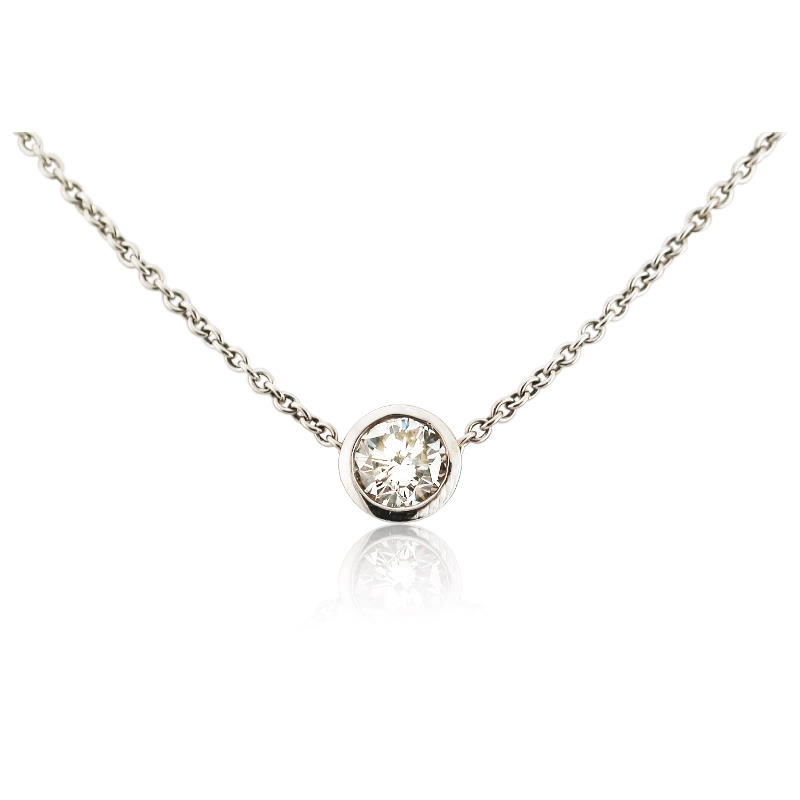 White gold pendant white gold diamond solitaire pendant necklace 84ct diamond solitaire 18k white gold pendant necklace aloadofball Image collections