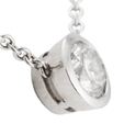 .84ct Diamond Solitaire 18k White Gold Pendant Necklace
