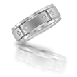 .33ct Men's Diamond 14k White Gold Wedding Band Ring
