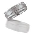 Men's 18k White Gold Wedding Band Ring