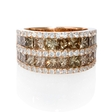 3.52ct Diamond 18k Rose Gold Ring