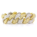 Diamond 18k Two Tone Gold Link Bracelet