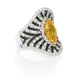 2.68ct Diamond and Yellow Sapphire 18k White Gold Ring