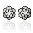 3.76ct Diamond 18k White Gold Cluster Earrings