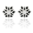 2.60ct Diamond 18k White Gold Cluster Earrings