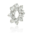 1.74ct Diamond 18k White Gold Pendant