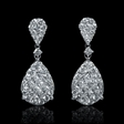 2.59ct Diamond 18k White Gold Dangle Drop Earrings