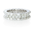5.40ct Diamond 18k White Gold Eternity Wedding Band Ring