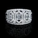Diamond 18k White Gold Openwork Ring