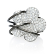 2.37ct Diamond 18k White Gold Floral Ring