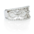 1.11ct Diamond 18k White Gold Ring