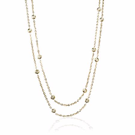 Diamond Chain 18k Yellow Gold Necklace