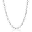 9.16ct Diamond and Pearl 18k White Gold Opera Necklace