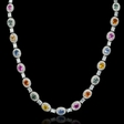 9.36ct Diamond and Sapphire 18k White Gold Necklace