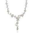 4.82ct Diamond 18k White Gold Floral Drop Necklace