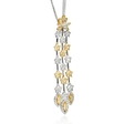 5.08ct Diamond 18k Two Tone Gold Pendant Necklace