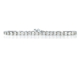 7.25ct 18k White Gold Tennis Bracelet