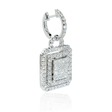 3.50ct Diamond 18k White Gold Dangle Earrings