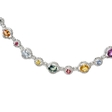 6.98ct Diamond and Sapphire 18k White Gold Necklace