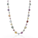 Diamond and Sapphire 18k White Gold Necklace