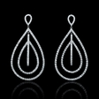 4.48ct Diamond 18k White Gold Dangle Earrings