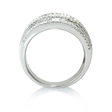 1.68ct Diamond 18k White Gold Multi Row Ring