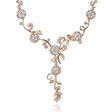 4.75ct Diamond 18k Rose Gold Floral Drop Necklace