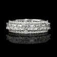 4.26ct Diamond 18k White Gold Eternity Wedding Band Ring