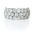 3.90ct Diamond 18k White Gold Wedding Band Ring