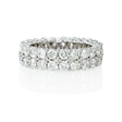 4.46ct Diamond 18k White Gold Eternity Wedding Band Ring