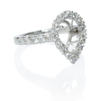 .63ct Diamond Platinum Halo Engagement Ring Setting