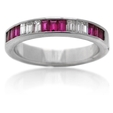 .31ct Diamond & Ruby 18k White Gold Ring