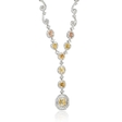 4.53ct Diamond 18k White Gold Drop Necklace