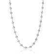1.24ct Diamonds By The Yard 18k White Gold Necklace