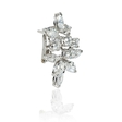 3.54ct Diamond 18k White Gold Cluster Earrings