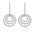 3.44ct Diamond 18k White Gold Dangle Earrings