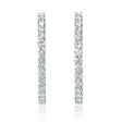 8.20ct Diamond 18k White Gold Hoop Earrings